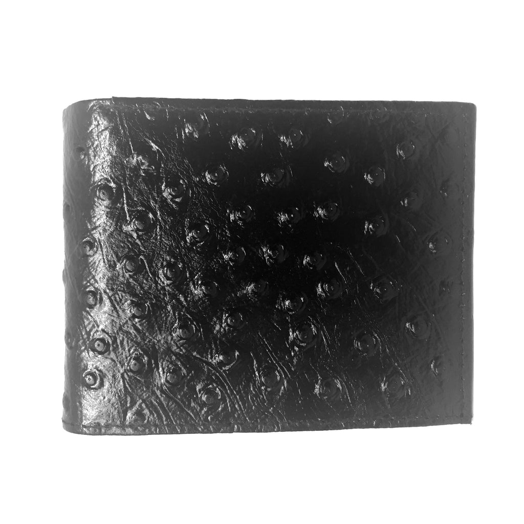 Leather Impressions Ostrich Belly Print Leather Wallet - Dudes Boutique - 1