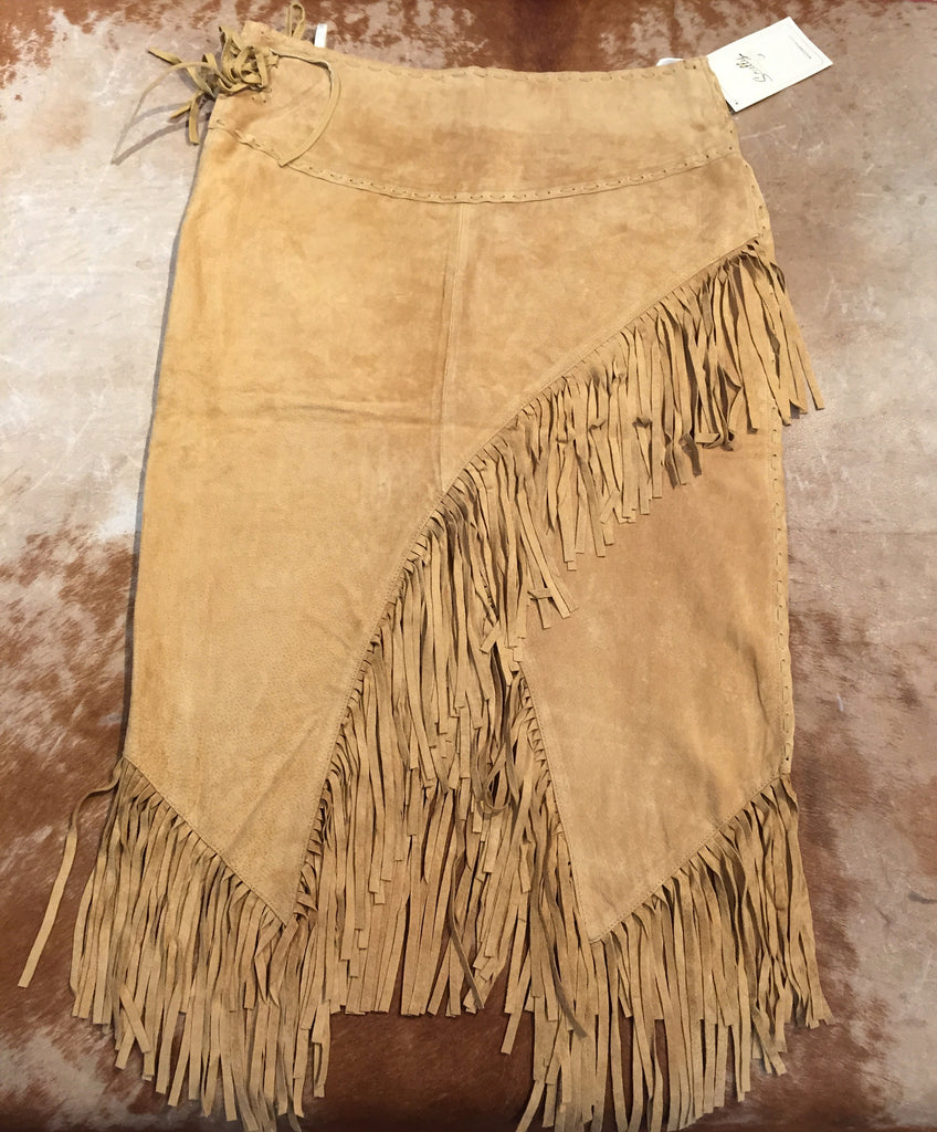 Scully 'L659' Suede Fringe Ladies Skirt - Dudes Boutique