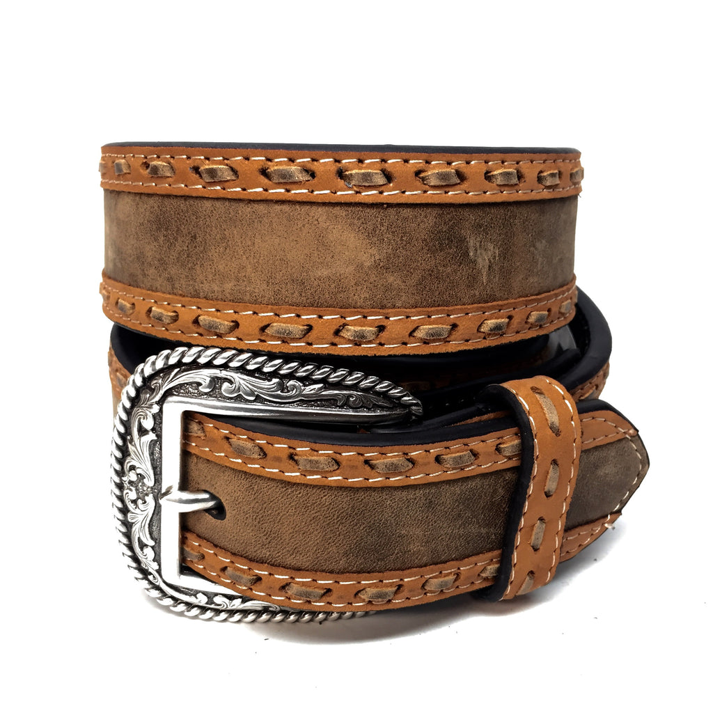 Nocona Stitched Western Belt - Dudes Boutique