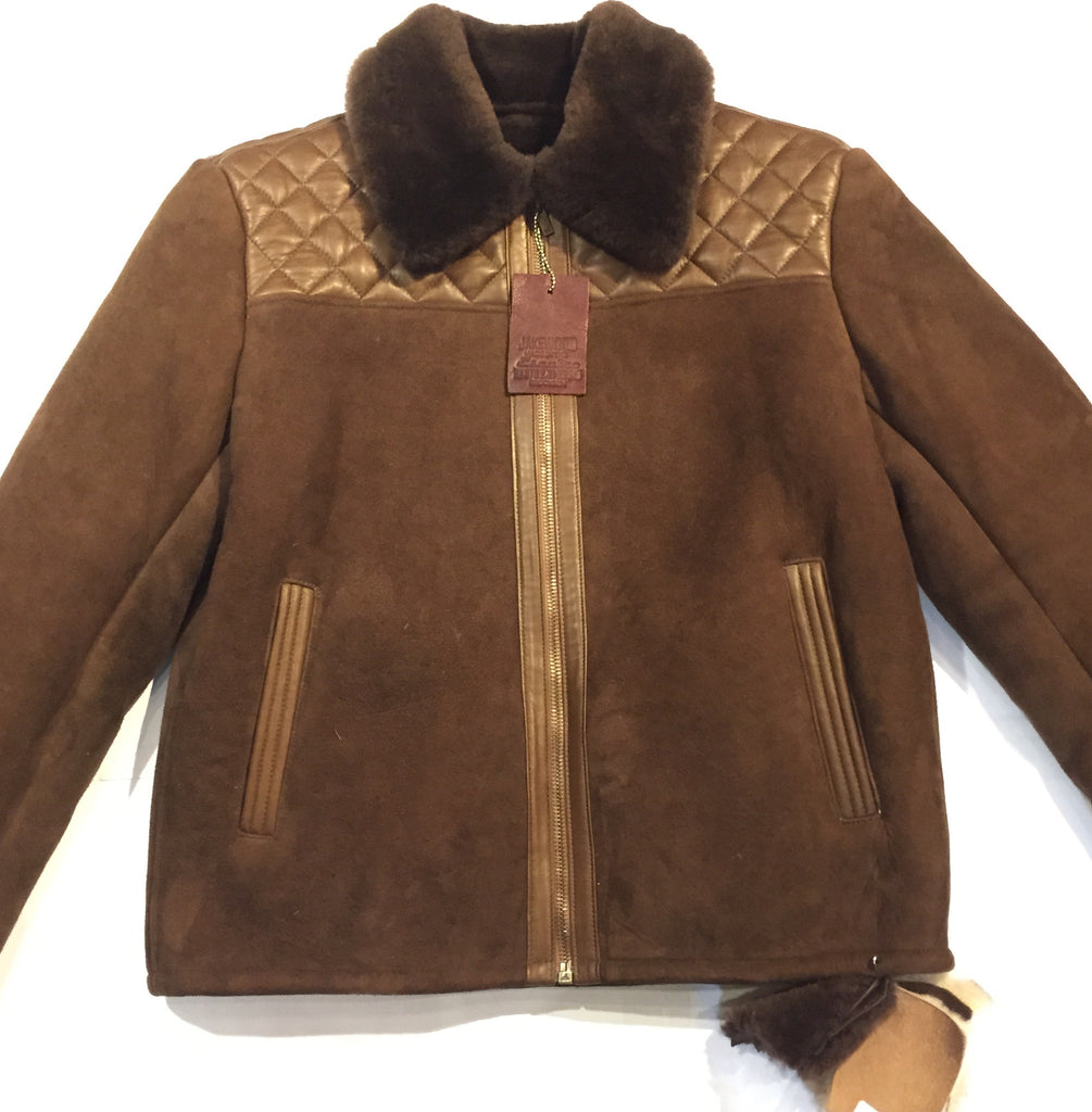 "Jakewood ""Alaska"" Brown Shearling Jacket - Dudes Boutique - 1"