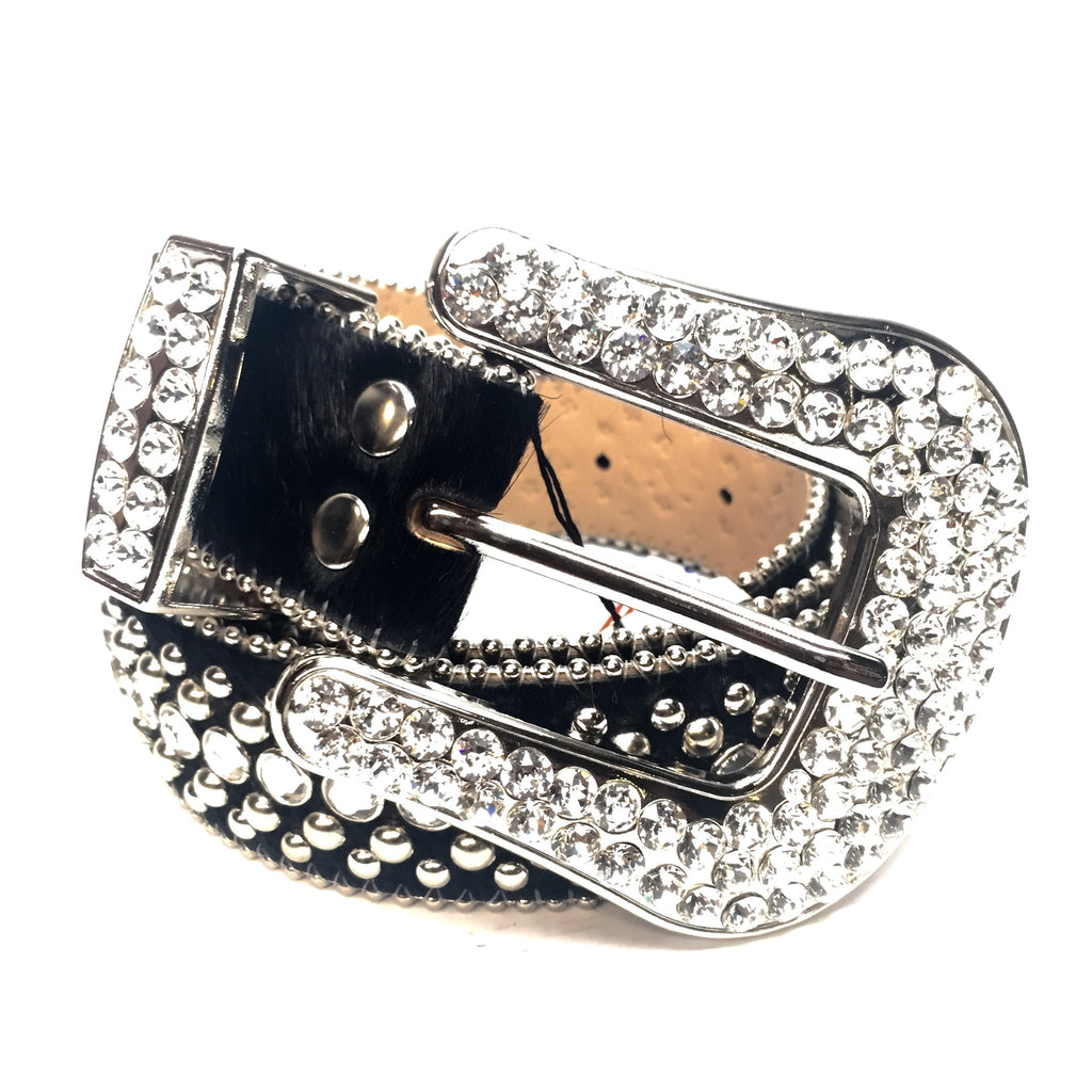 B.B. Simon 'Black Magic' Swarovski Crystal Belt - Dudes Boutique