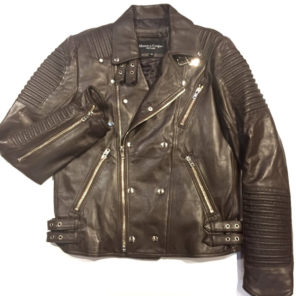 Mason & Copper Lamb Skin Motor Cycle Jacket - Dudes Boutique