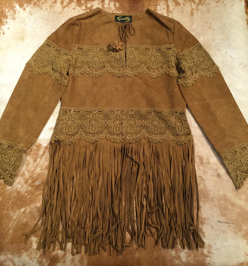 Scully 'L124' Brown Suede Fringe Jacket - Dudes Boutique