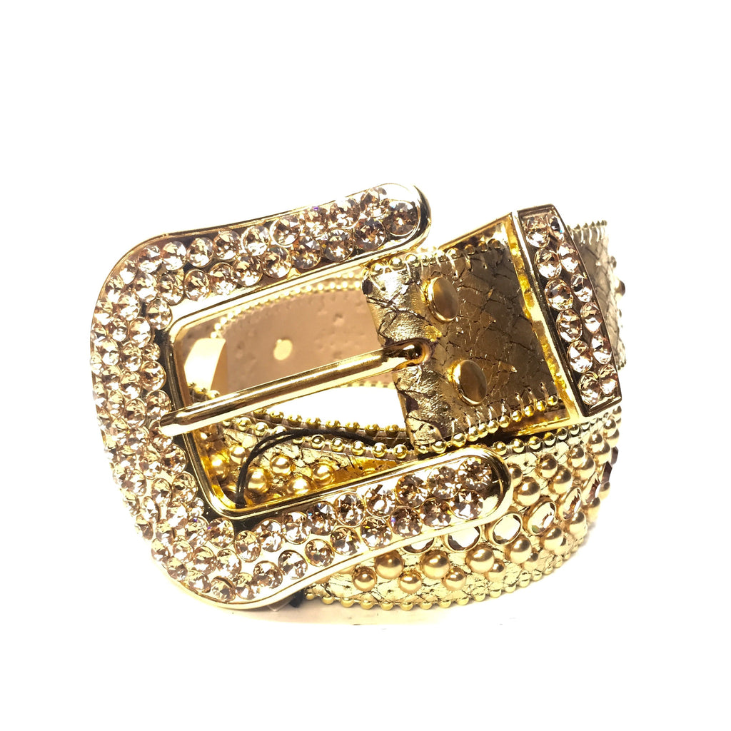 B.B. Simon - 'Golden Cobra' Swarovski Crystal Belt - Dudes Boutique