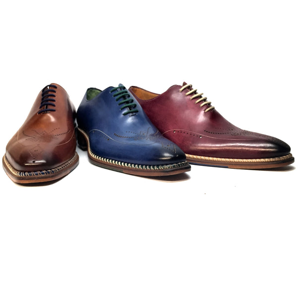 "Jose Real ""Fondo"" Hand-Painted Oxford Dress Shoes - Dudes Boutique - 1"