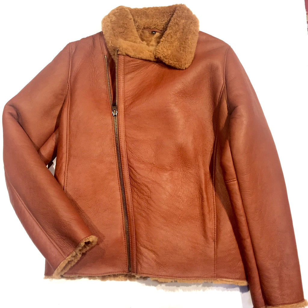 Jakewood Asymmetric Shearling Bomber - Dudes Boutique - 1