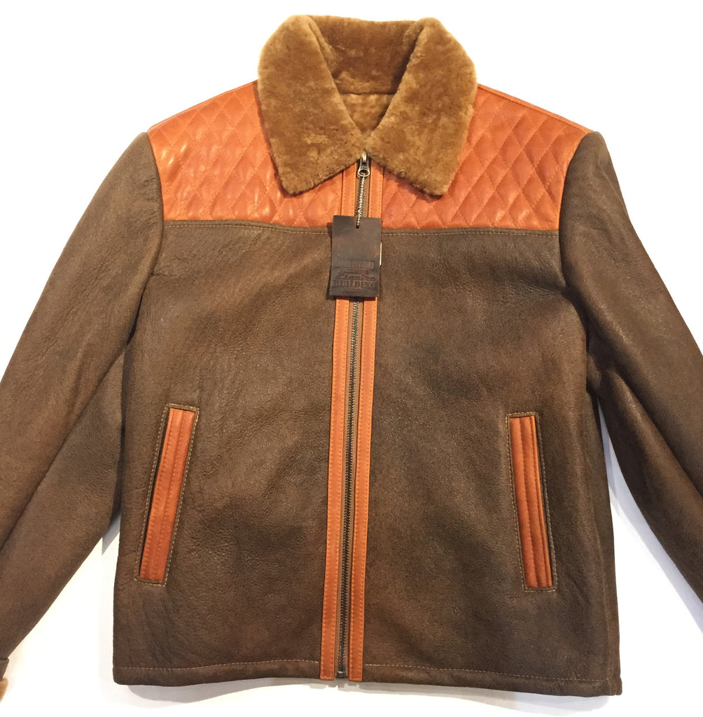 "Jakewood ""Alaska"" Tan Shearling Jacket - Dudes Boutique - 1"