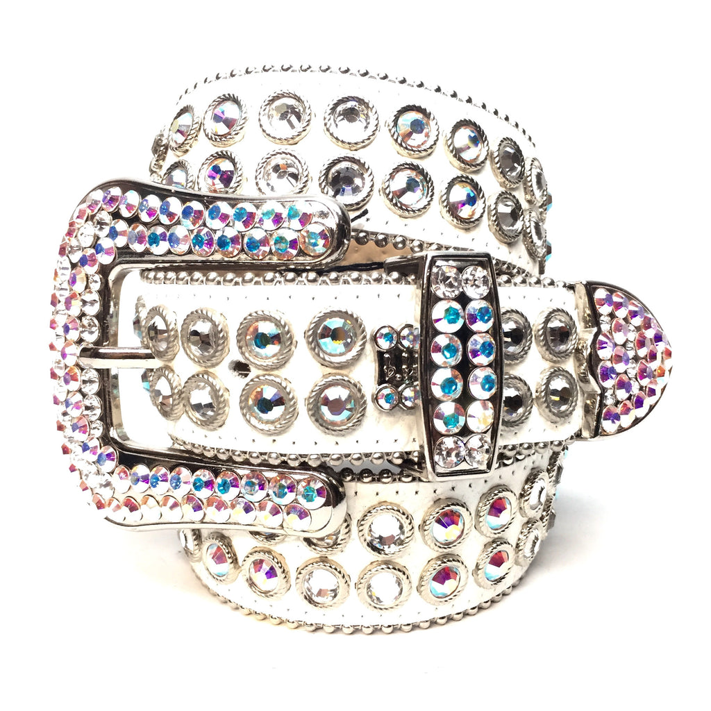 "B.B. Simon - ""Flash"" 2-Row Swarovski Crystal Belt - Dudes Boutique"