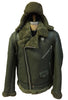 Jakewood - Shearling & Cow Racing Aviator Jacket - Dudes Boutique - 13