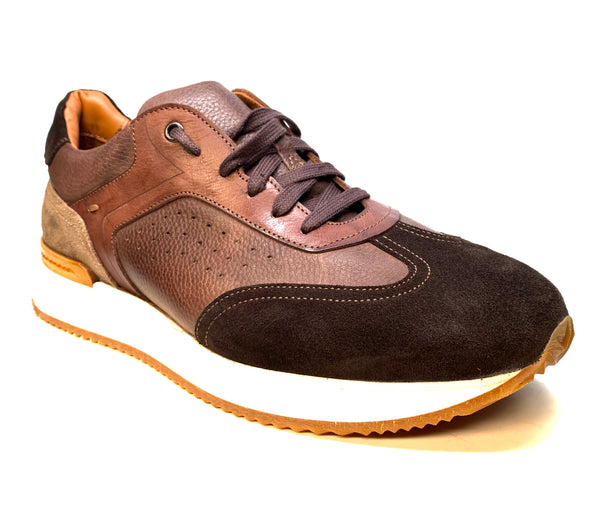 Jose Real Two Tone Brown Suede Leather Sneakers