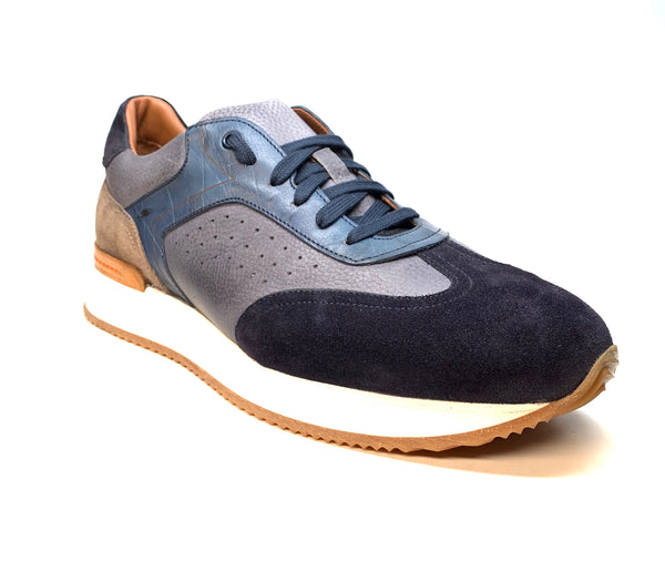 Jose Real Two Tone Blue Suede Leather Sneakers