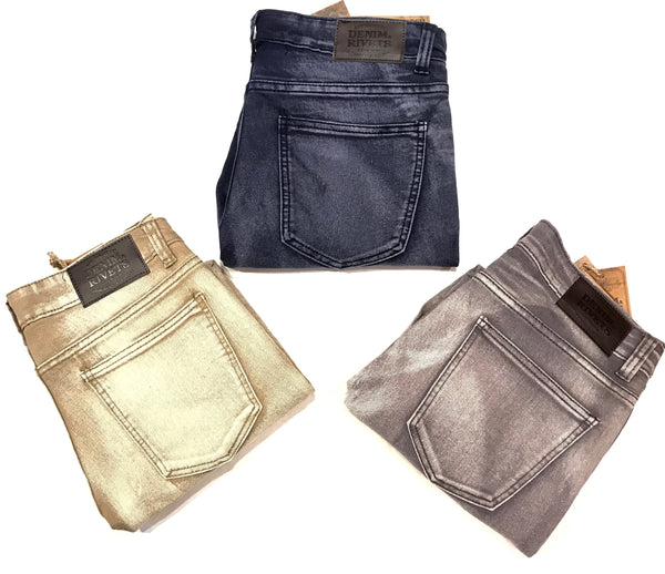Limited Light Washed Fit Biker Jeans