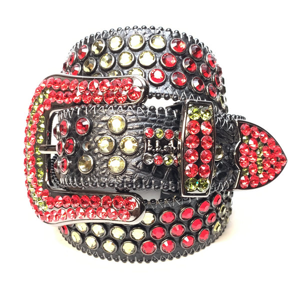 b.b. Simon Khayyam Tri-Tone Fully Loaded Swarovski Crystal Belt