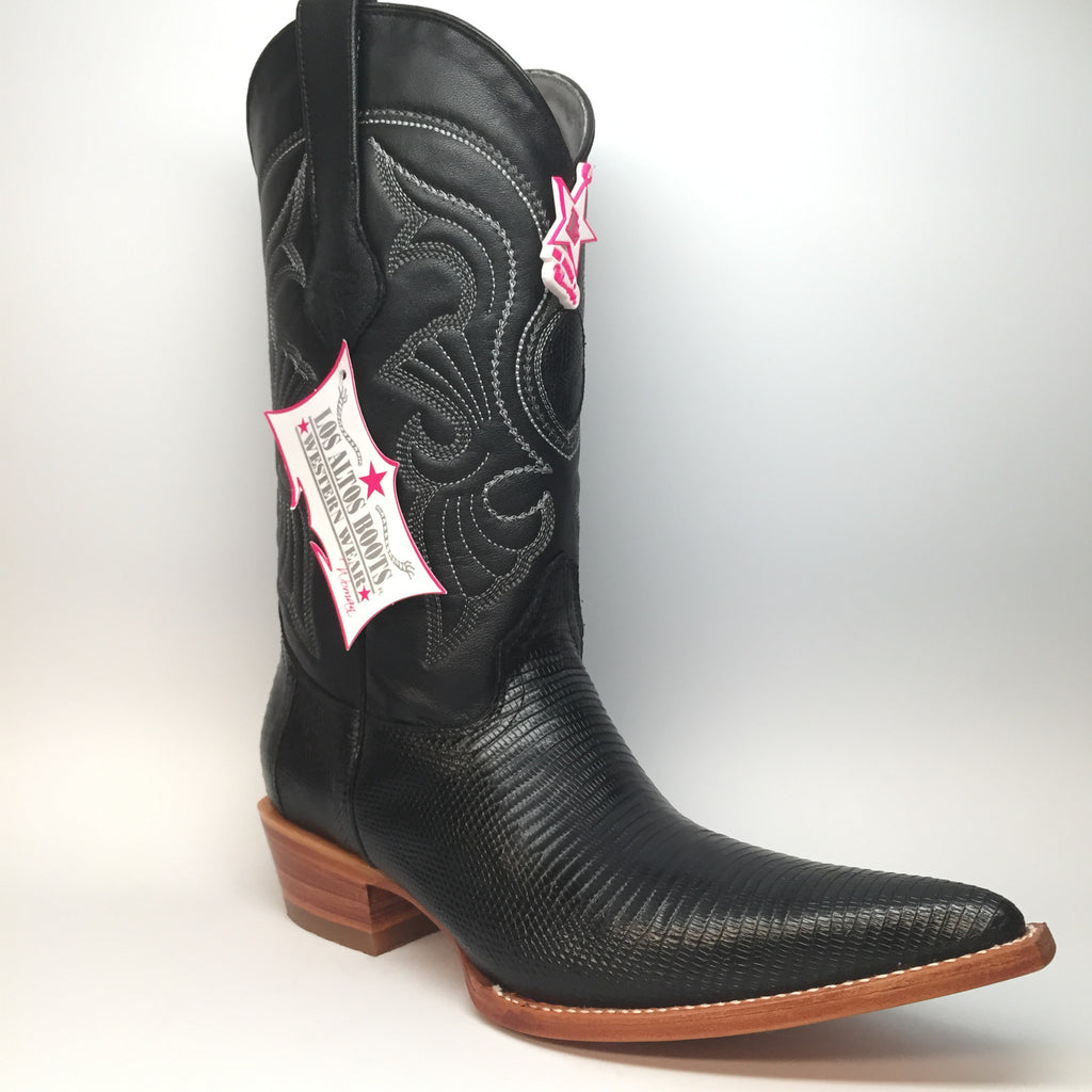 Los Altos Ring Lizard XXX-Toe Full Vamp Cowgirl Boots - Dudes Boutique - 1