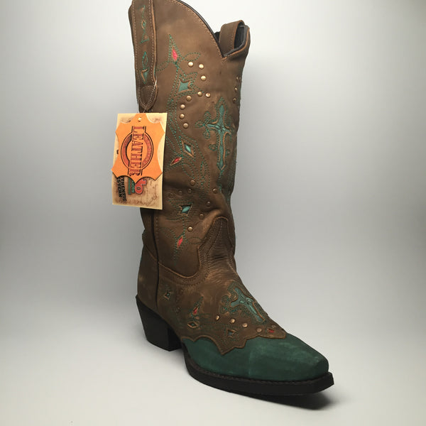 "Laredo Stitched Cross Cowgirl Boots ""52032"" - Dudes Boutique - 1"