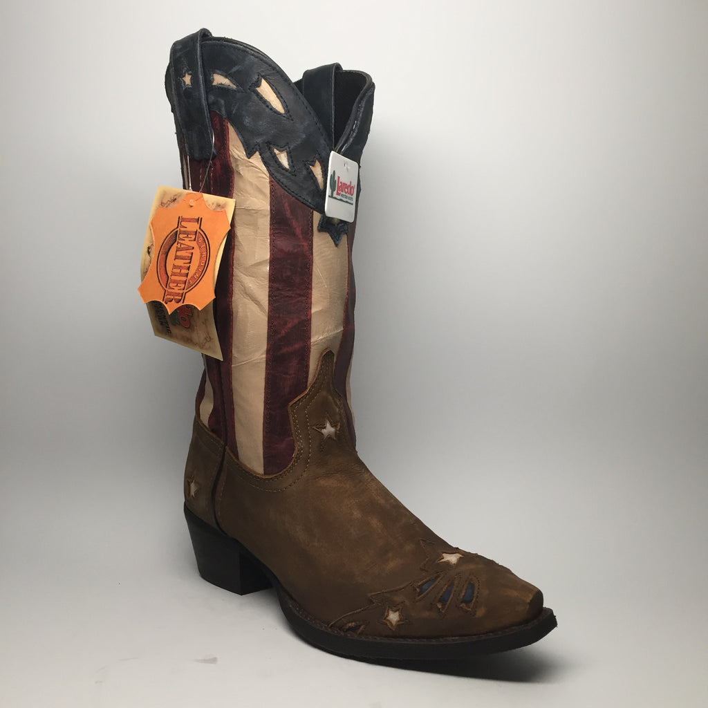 "Laredo Stars & Stripes Leather Cowboy Boots ""52165"" - Dudes Boutique - 1"