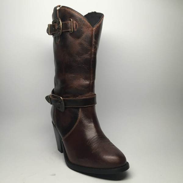 "Dingo Buckled Calf Boot ""DI648"" - Dudes Boutique"