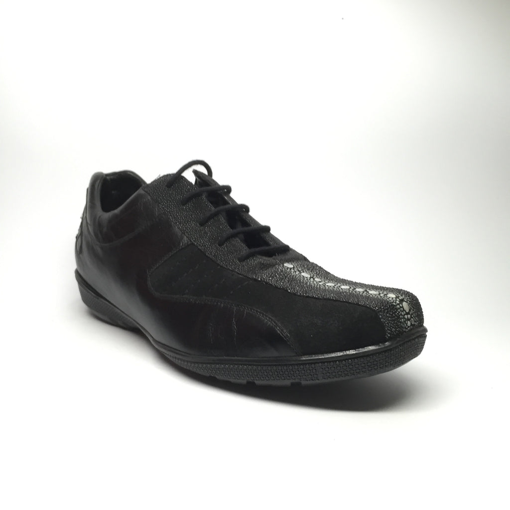 Los Altos Stingray Rowstone/Deerskin/Suede Lace-Up Sneakers - Dudes Boutique