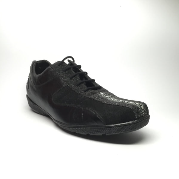 Los Altos Stingray Rowstone/Deerskin/Suede Lace-Up Sneakers - Dudes Boutique - 1
