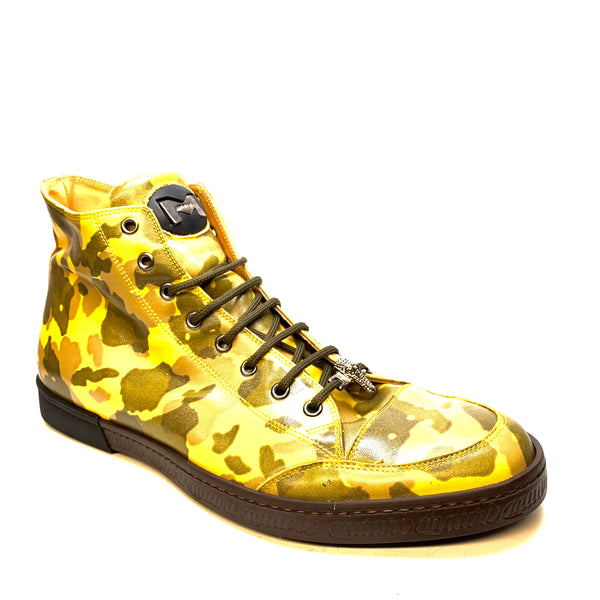 Mauri '8888' Camouflage Patent Leather High-Top Sneakers