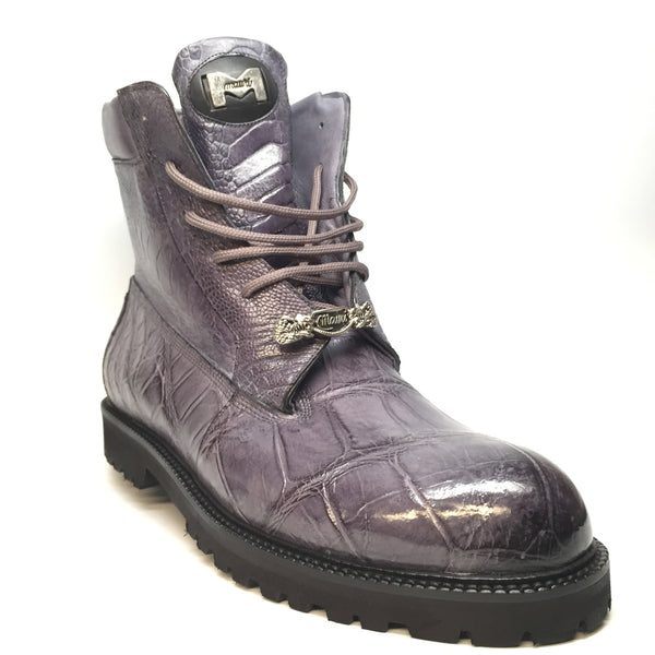 "Mauri ""Commando"" Alligator/Ostrich Leg Combat Boot 4637 - Dudes Boutique"