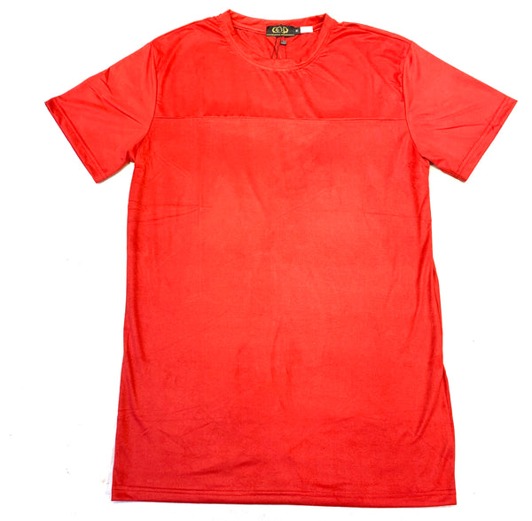 Gold Leaf Red Suede Short Sleeve Shirt - Dudes Boutique