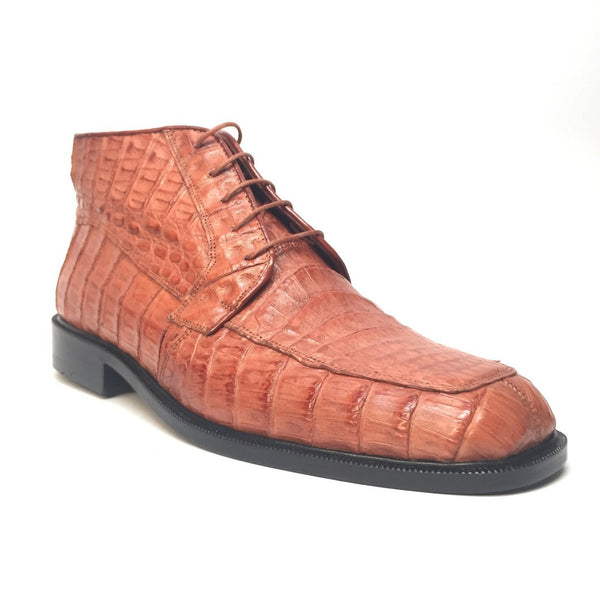 Los Altos Lace-Up Crocodile Dress Boots - Dudes Boutique - 1