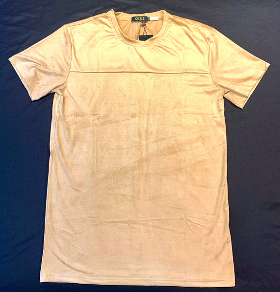 Gold Leaf Bone Suede Short Sleeve Shirt