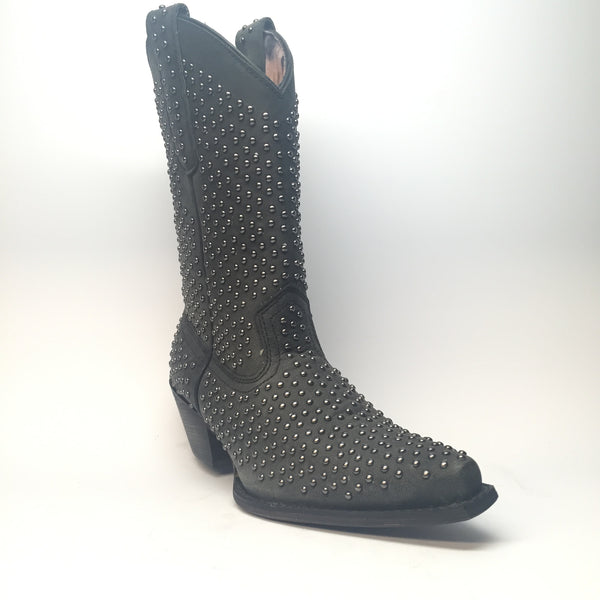 Laredo All-Over Studded Leather Cowboy Boots - Dudes Boutique - 1