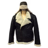 Jakewood - Shearling & Cow Racing Aviator Jacket - Dudes Boutique - 6