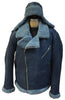 Jakewood - Shearling & Cow Racing Aviator Jacket - Dudes Boutique - 12