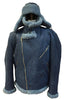Jakewood - Shearling & Cow Racing Aviator Jacket - Dudes Boutique - 10