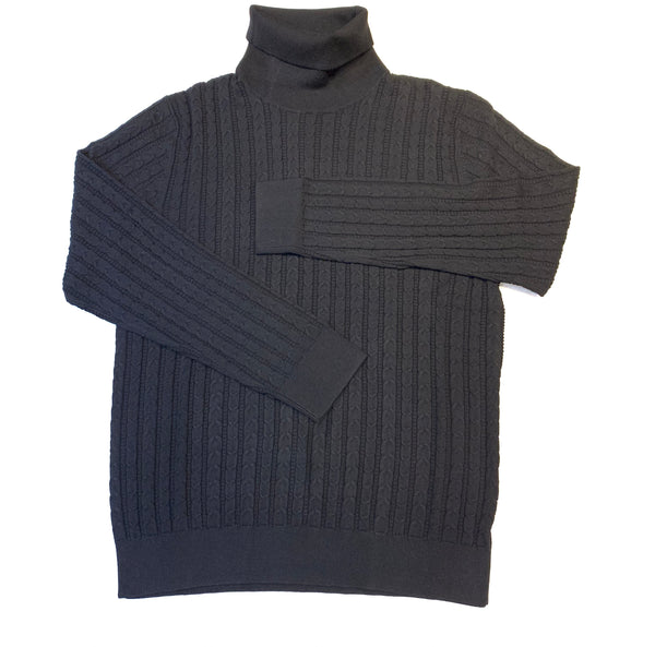 Prestige Men's Black Knit Turtle Neck Sweater - Dudes Boutique