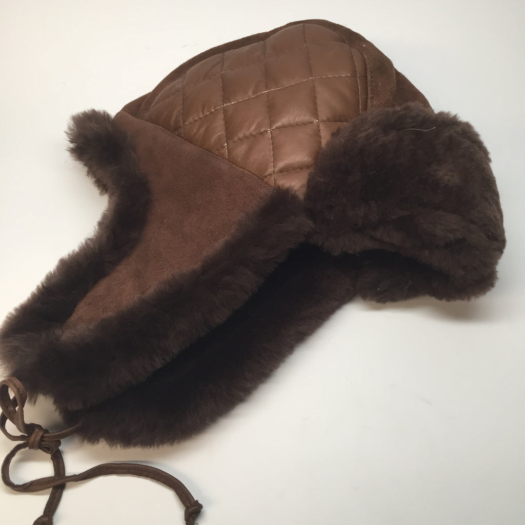 Jakewood Quilted Brown Aviator Hat - Dudes Boutique