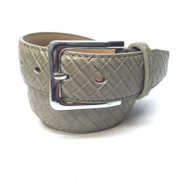 Green Diamond Leather Belt - Dudes Boutique