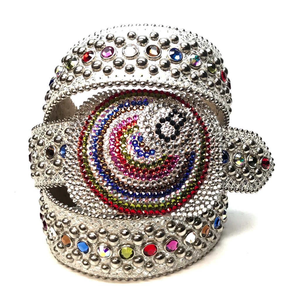 b.b. Simon '8 Ball' multi-color  Swarovski Crystal Belt - Dudes Boutique