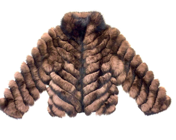 Kashani Women's Dark Brown Fox Fur Jacket