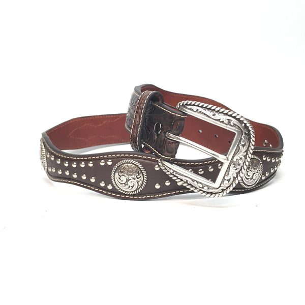 Nocona Studded Western Belt - Dudes Boutique