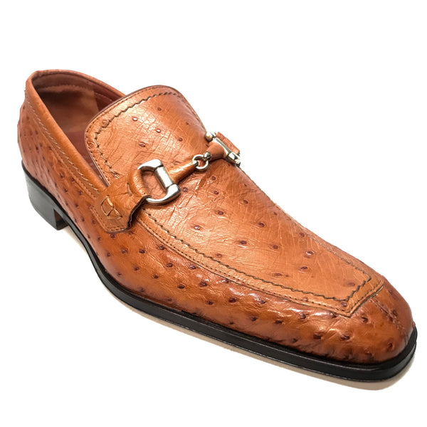 Fatto A Mano Buckled Ostrich Quill Loafers
