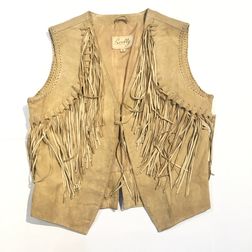 Scully Suede Fringe Vest - Dudes Boutique - 1