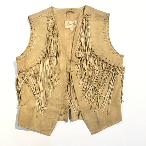 Scully Suede Fringe Vest - Dudes Boutique
