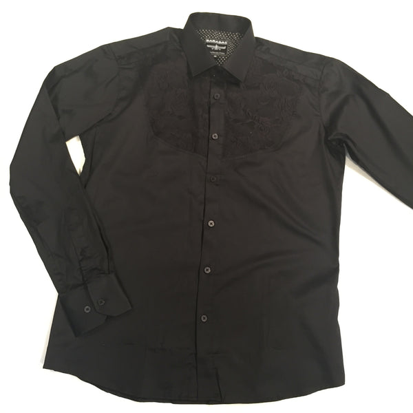 Barabas Embroidered Button Up Shirt - Dudes Boutique