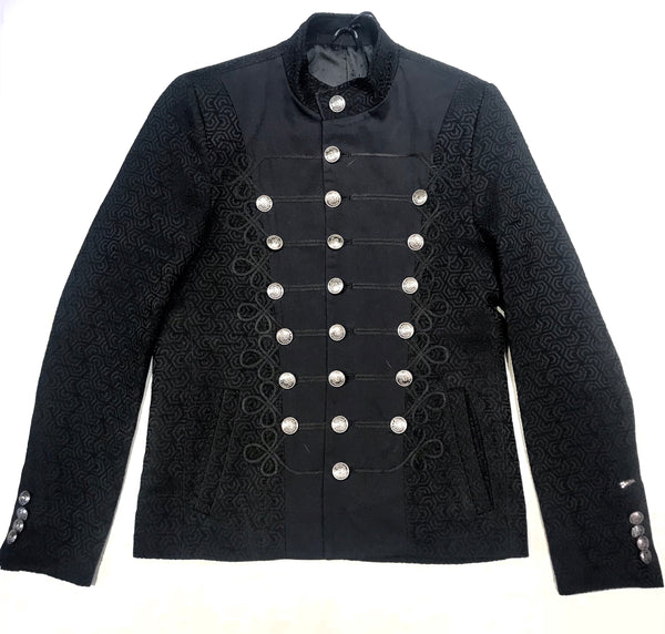 Mondo Monarch Black Mandarin Button Jacket - Dudes Boutique