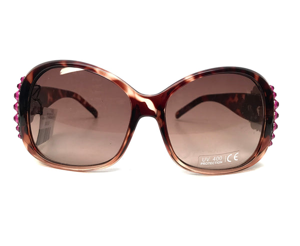Nocona Brown Berry Cross Crystal Sunglasses