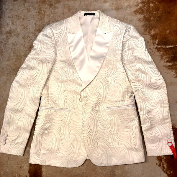 Inserch White Dove Two-Button Blazer