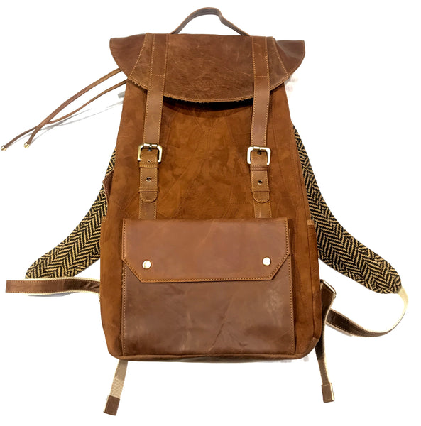 Vann & Co Brown Leather Duffle Backpack