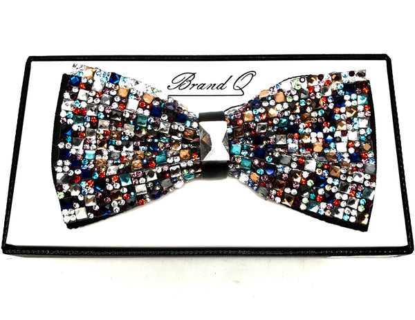 Multicolor Fully Loaded Crystal Bow Tie
