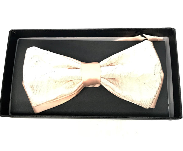Peach Golden Shine Bow Tie