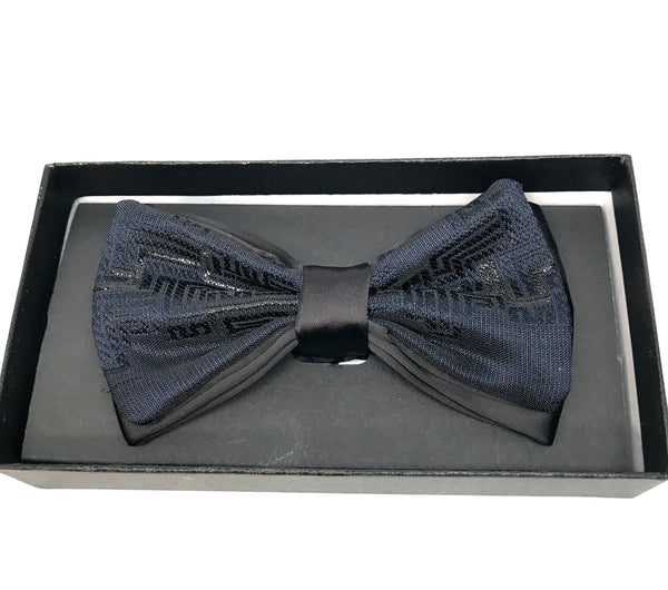 Navy Geometric Royal Bow Tie