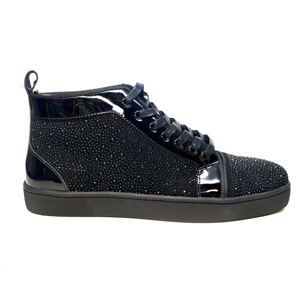 Gold Leaf Crystal High top Sneakers - Dudes Boutique